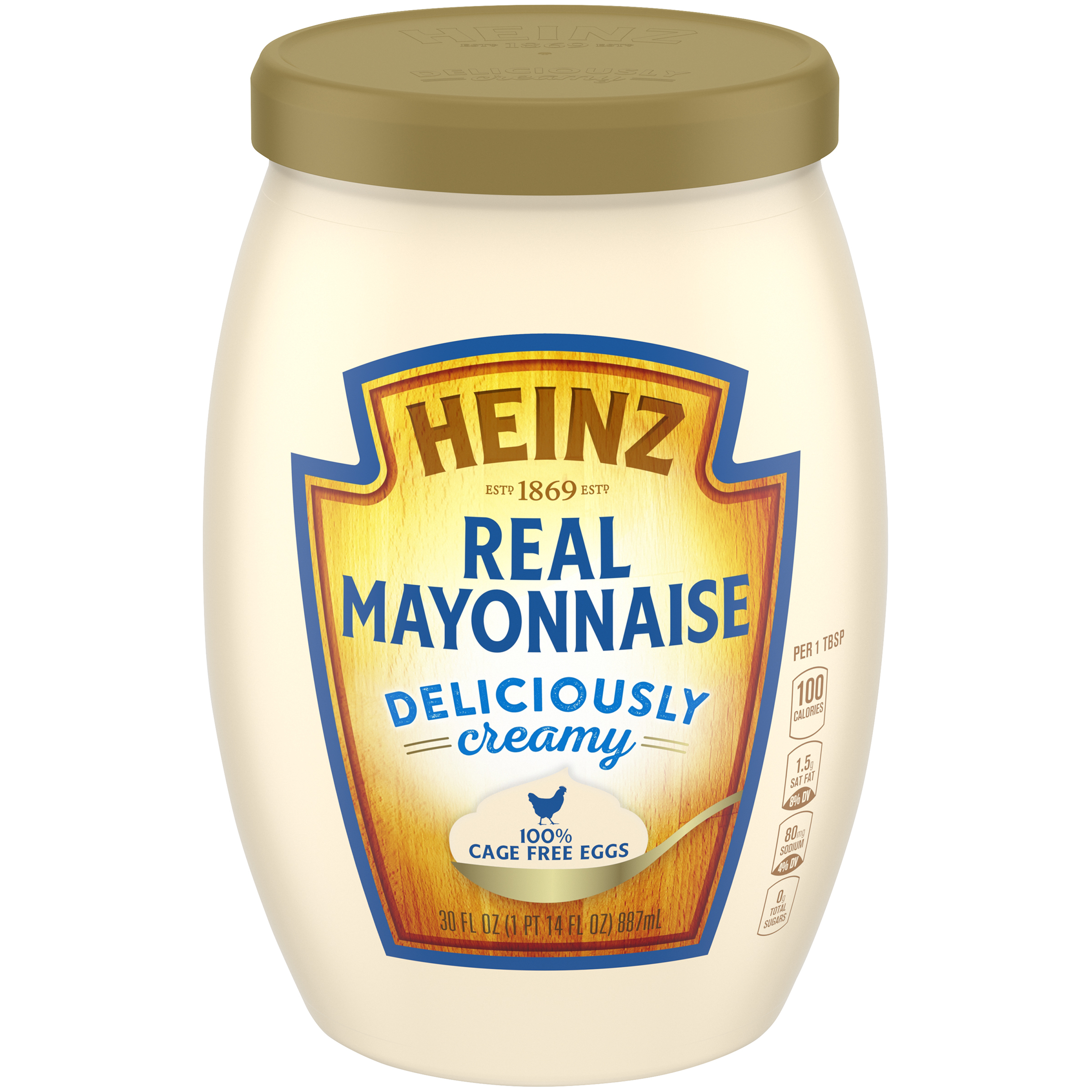 Heinz Real Mayonnaise - 100% Cage Free Eggs (30 oz.) image