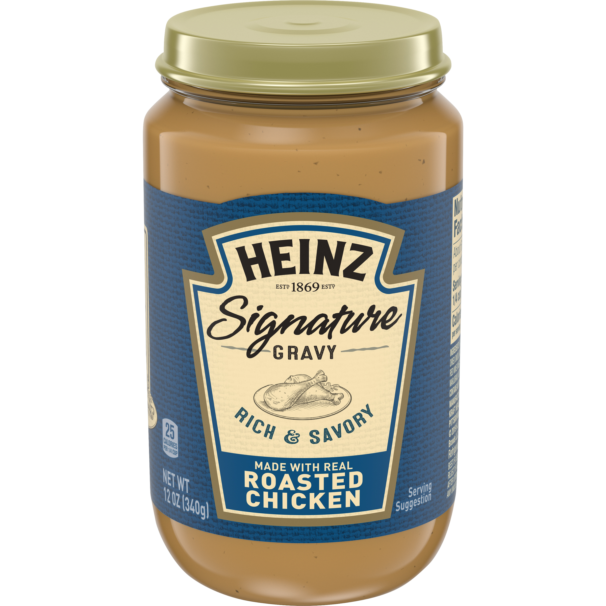 Heinz Signature Rich & Savory Roasted Chicken Gravy 12 oz Jar image