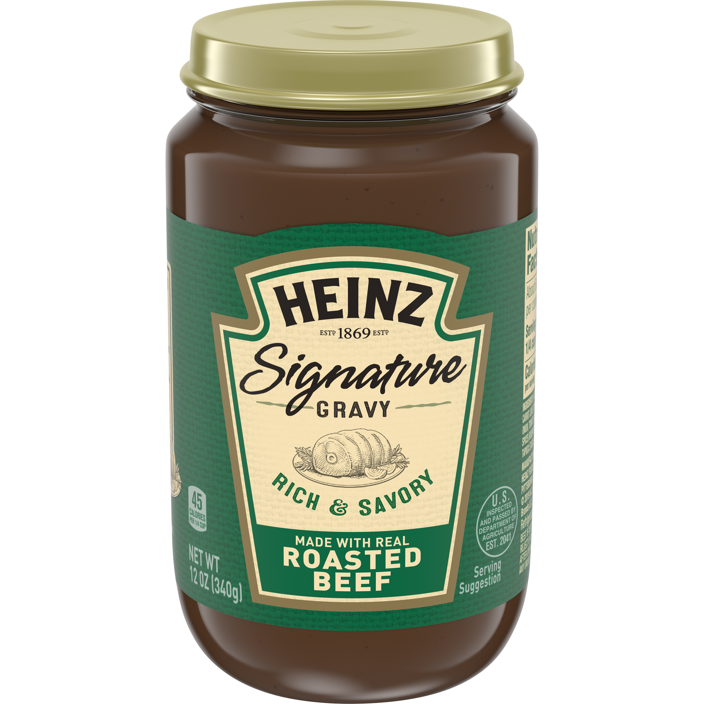 Heinz Signature Rich & Savory Roasted Beef Gravy 12 oz Jar image