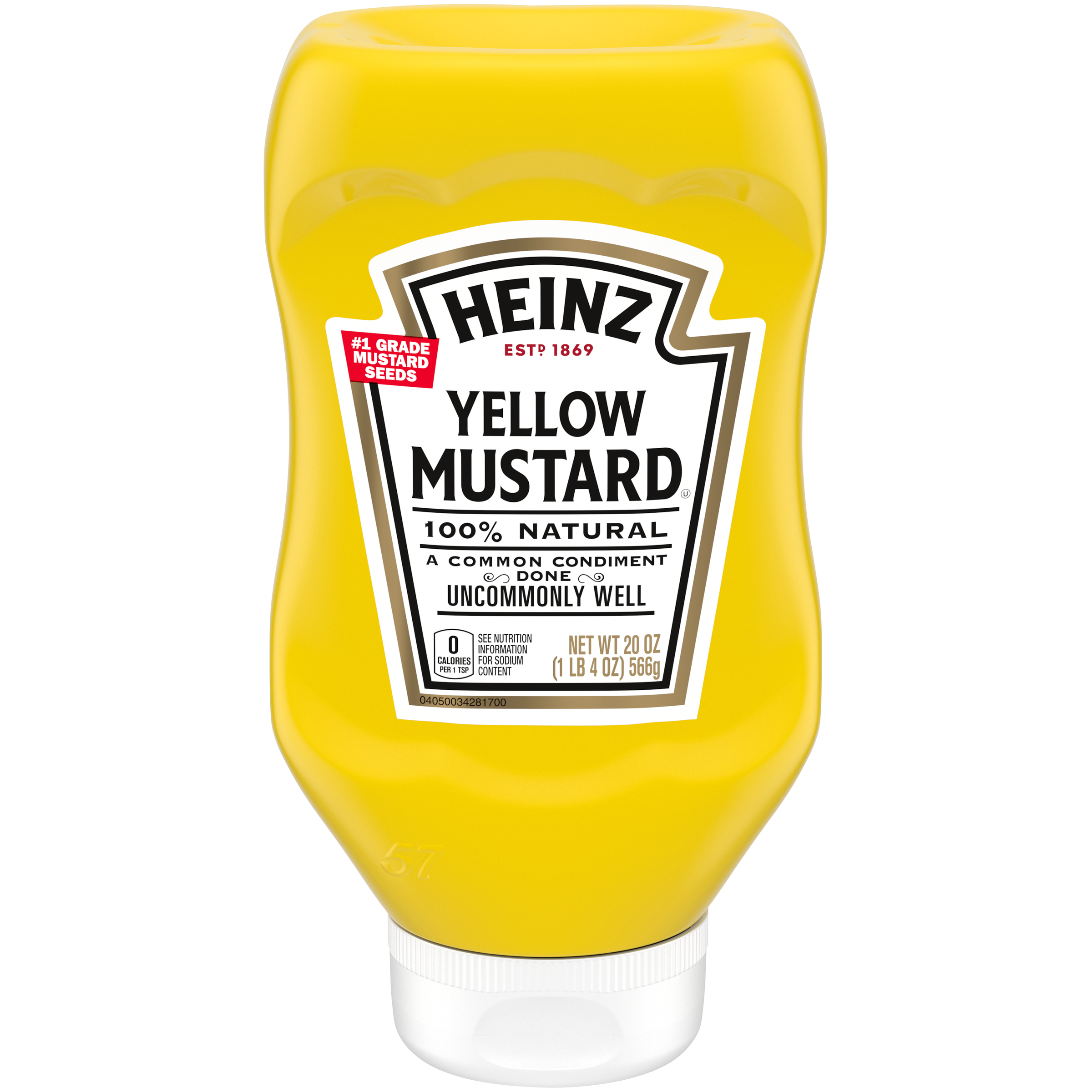 Heinz Yellow Mustard 20 oz Bottle image