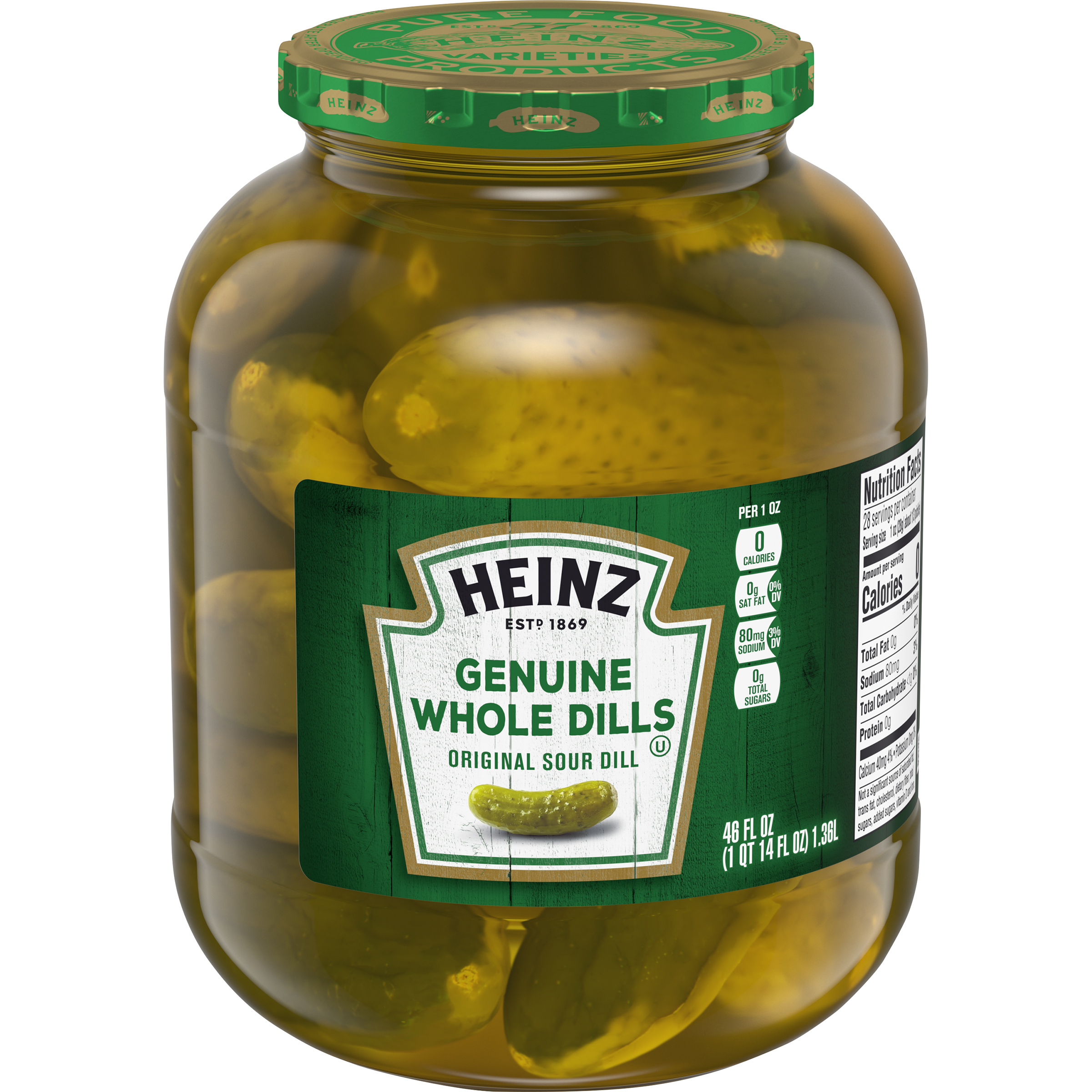 Heinz Premium Genuine Dills Pickles 46 Oz Jar image