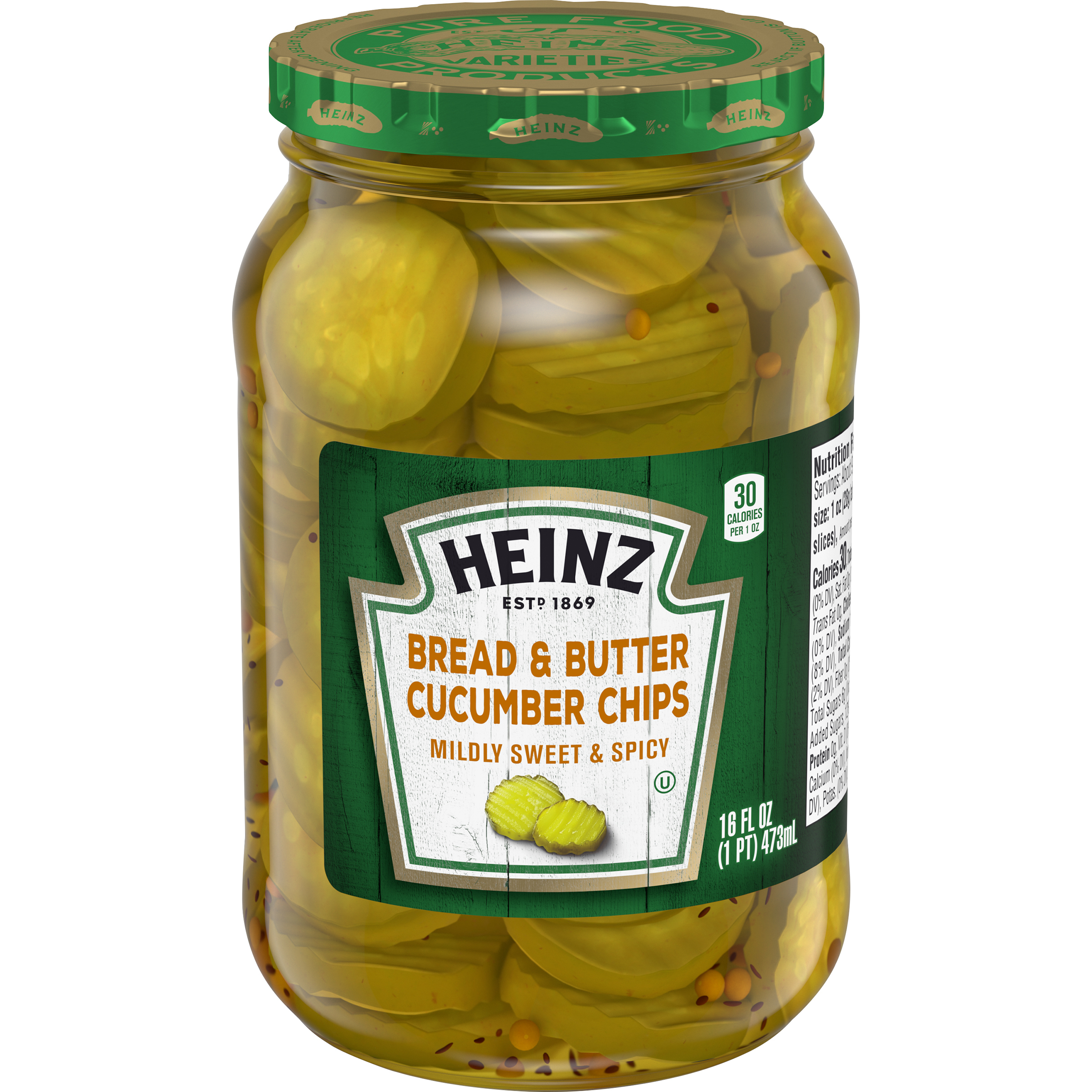 Heinz Bread & Butter Chips 16 fl oz Jar image