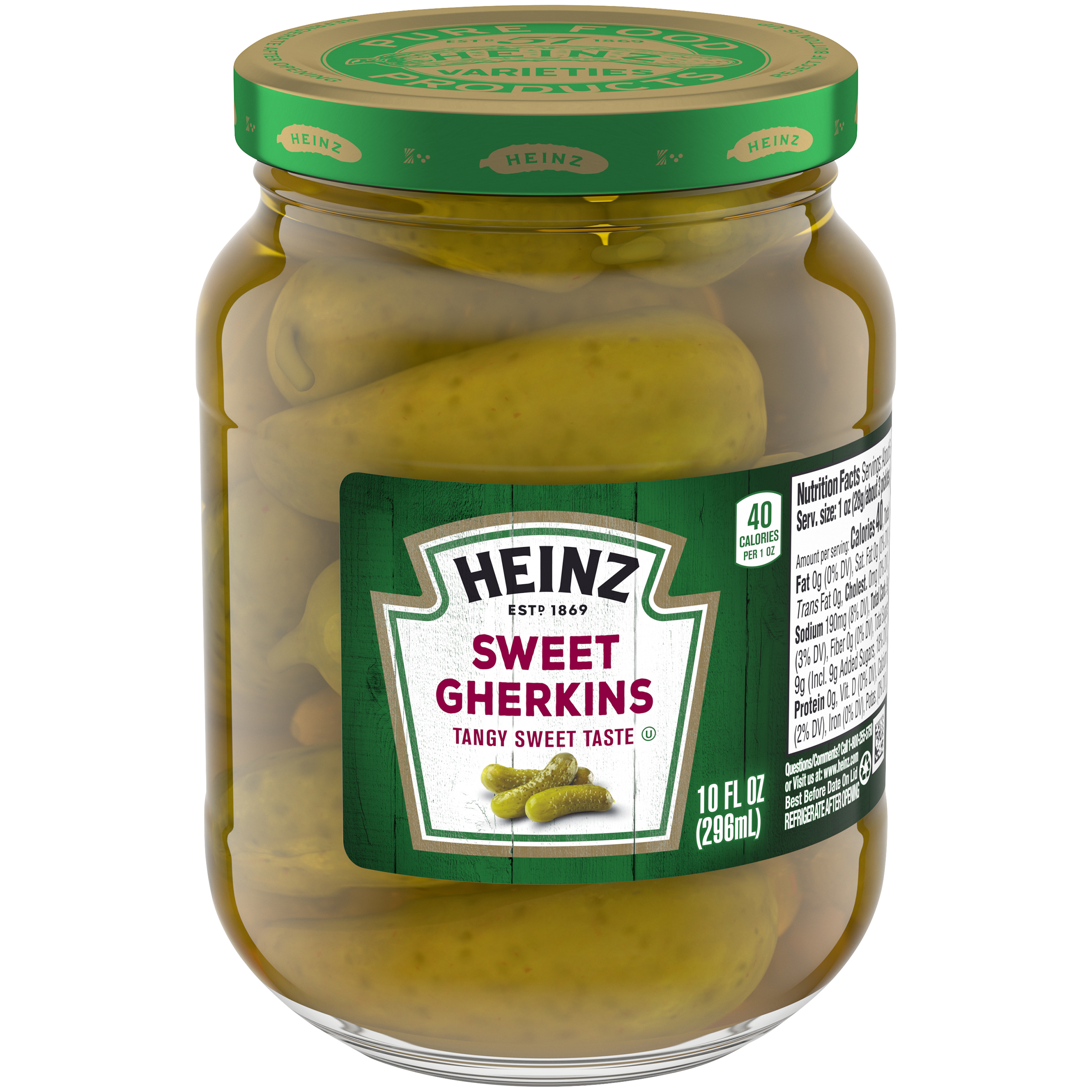 Heinz Sweet Midget Gherkins Pickles 10 fl oz Jar
