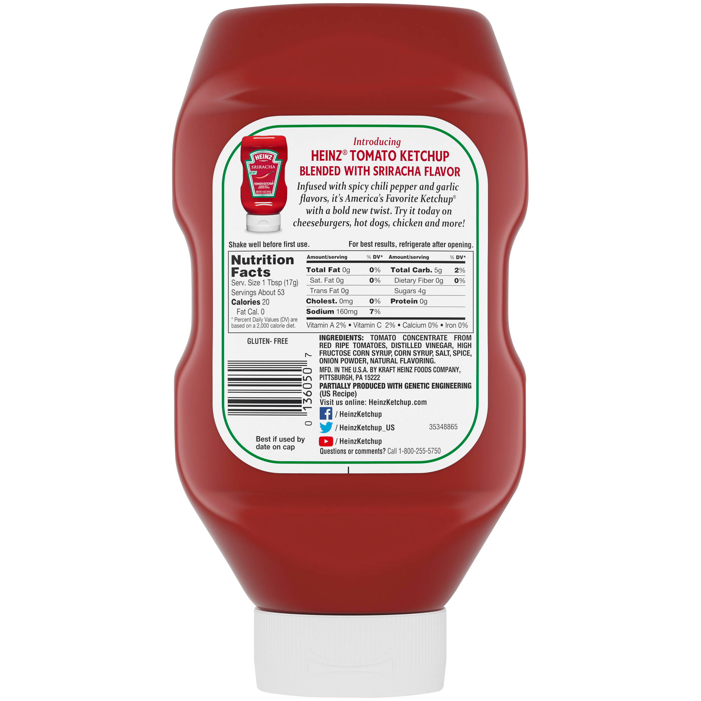 Heinz Tomato Ketchup 32 oz Bottle