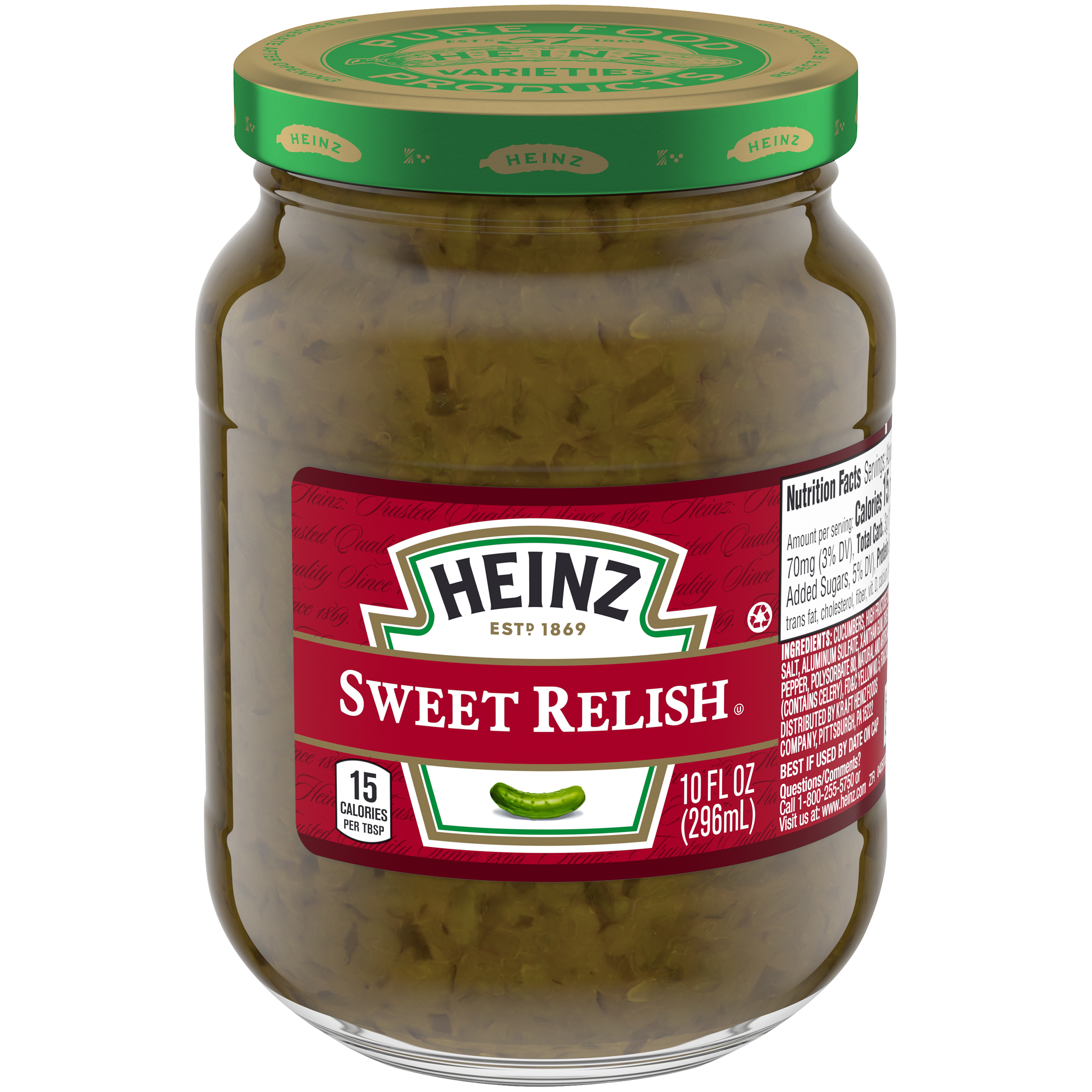 Heinz Sweet Relish 10 fl oz Jar image