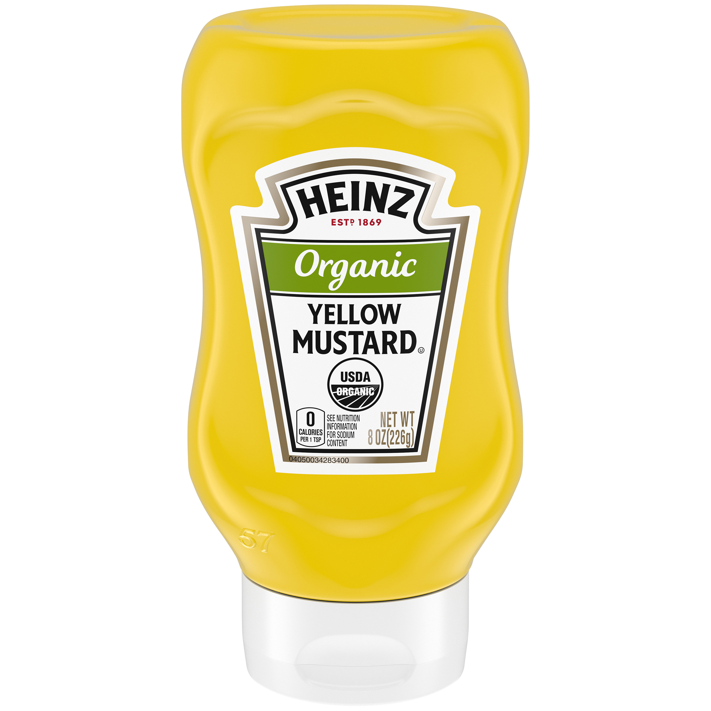Heinz Organic Yellow Mustard 8 oz Bottle image
