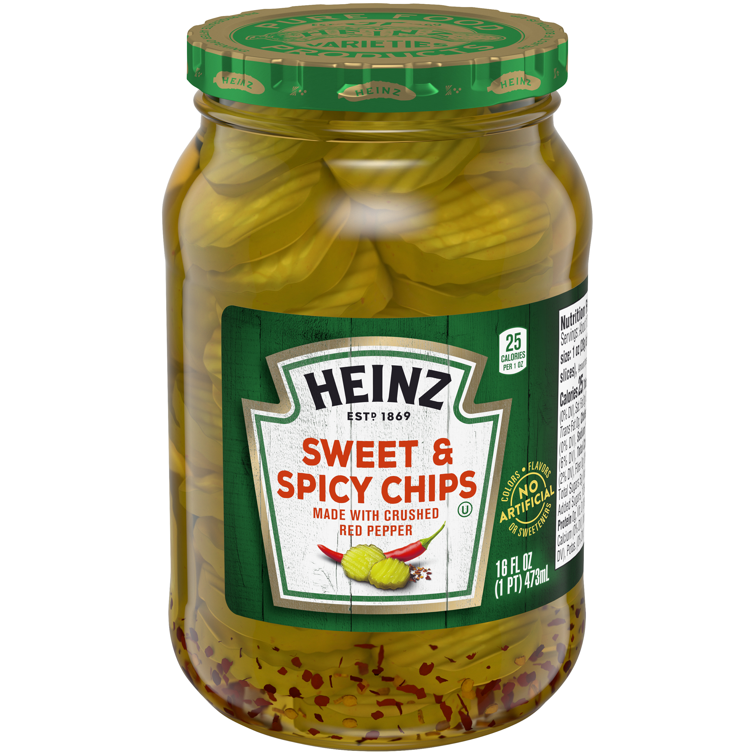 Heinz Sweet and Spicy Chips 16 fl oz Jar image