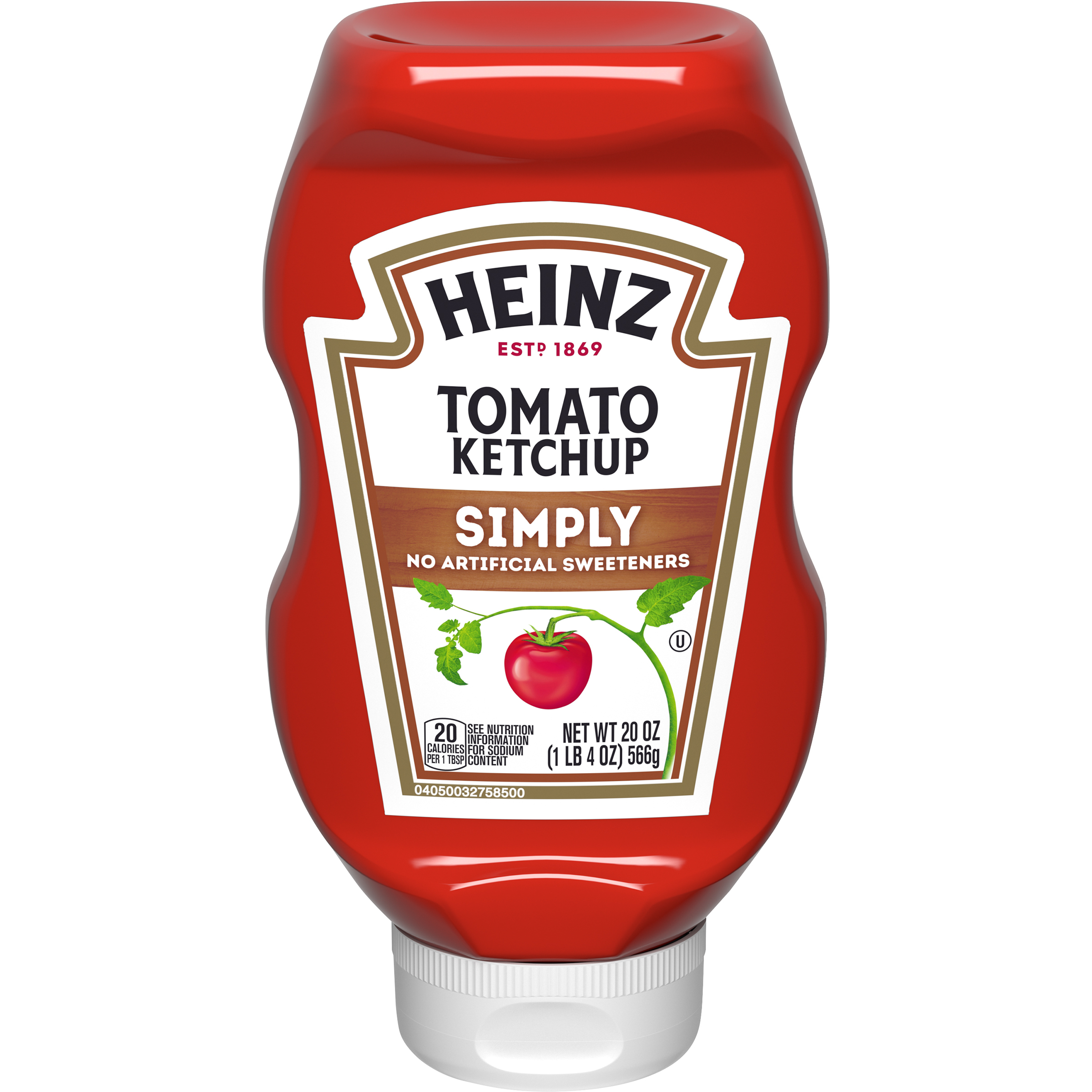 Heinz Simply Heinz Tomato Ketchup 20 oz Bottle image