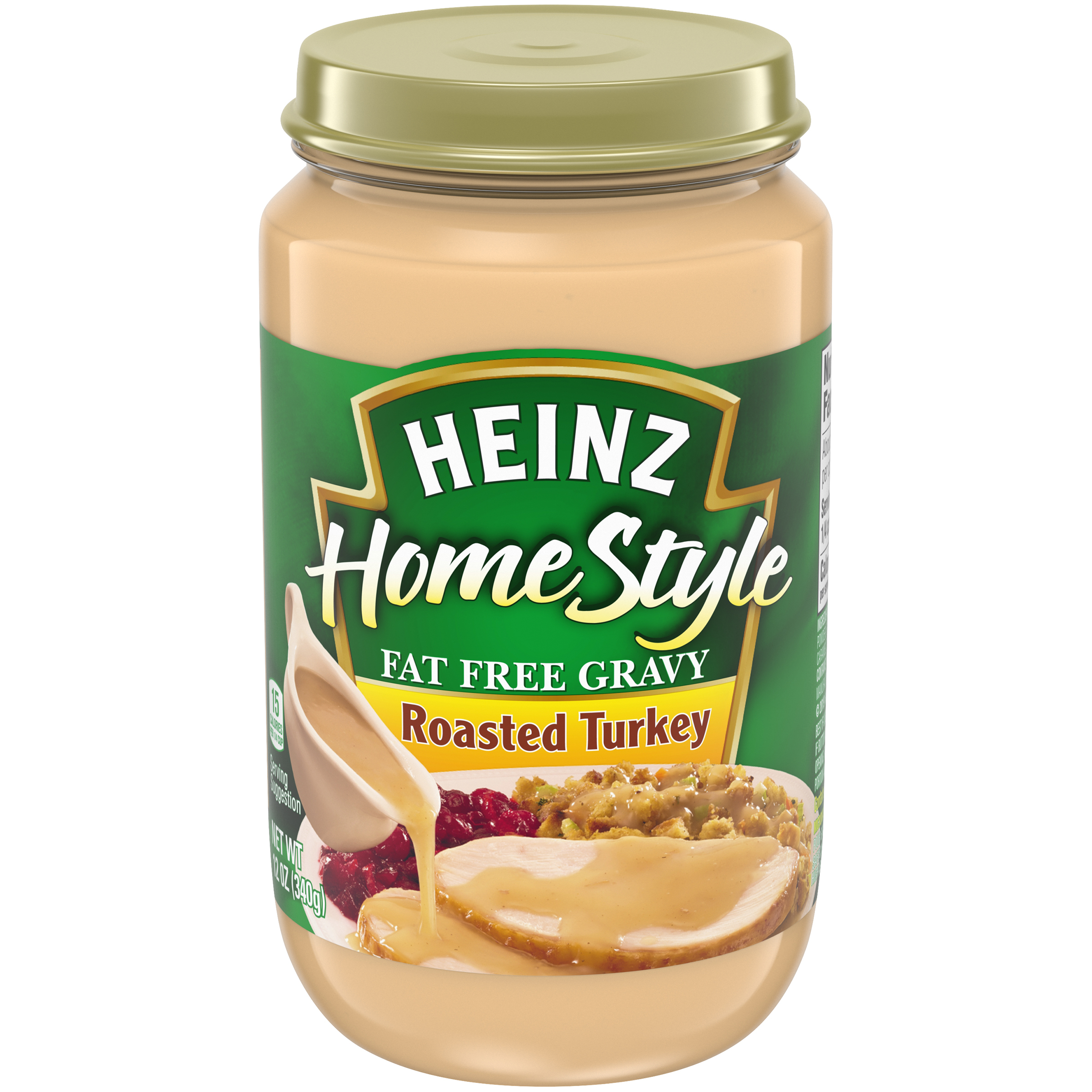 Heinz Home Style Fat Free Roasted Turkey Gravy 12 oz Jar image