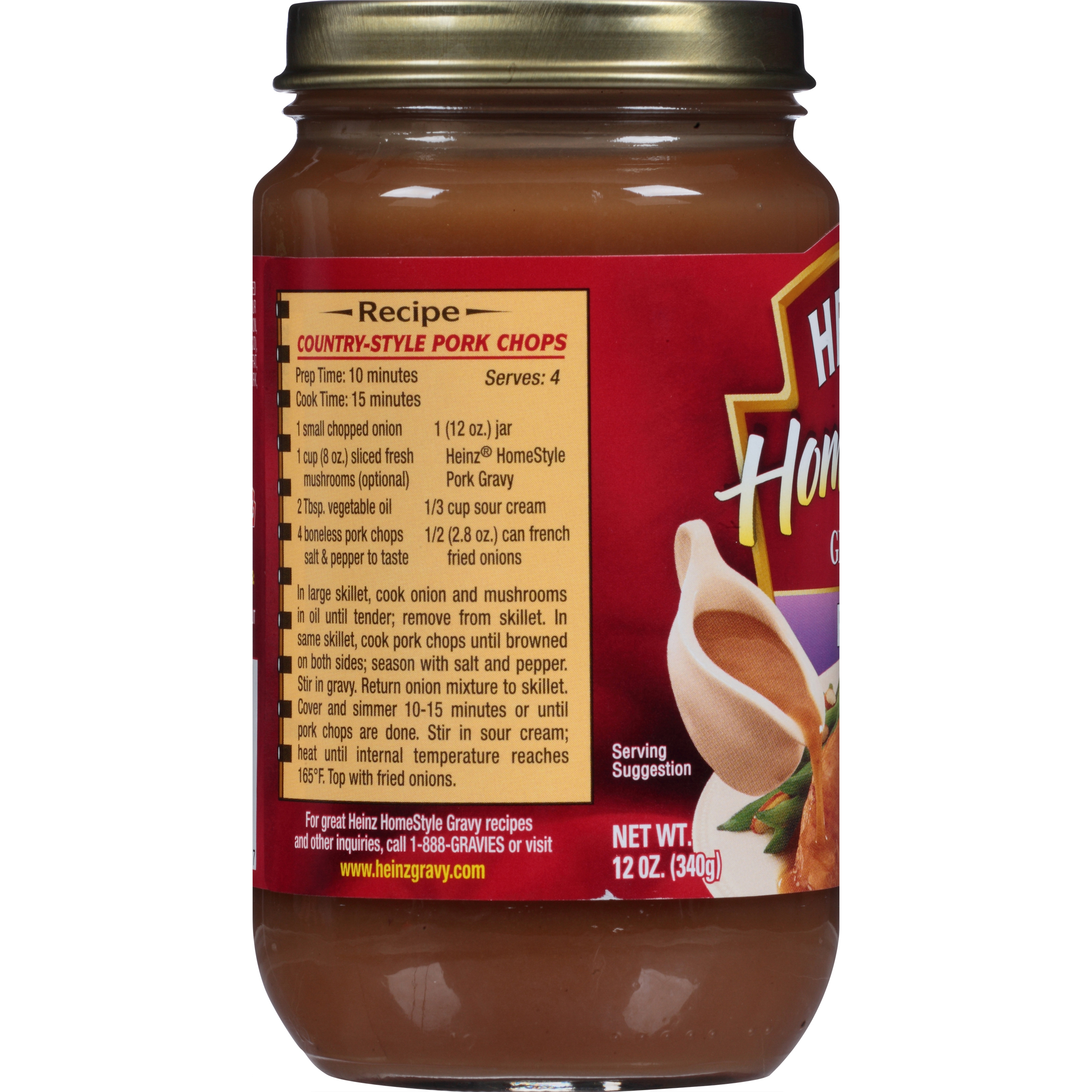 Heinz HomeStyle Pork Gravy 12 oz. Jar
