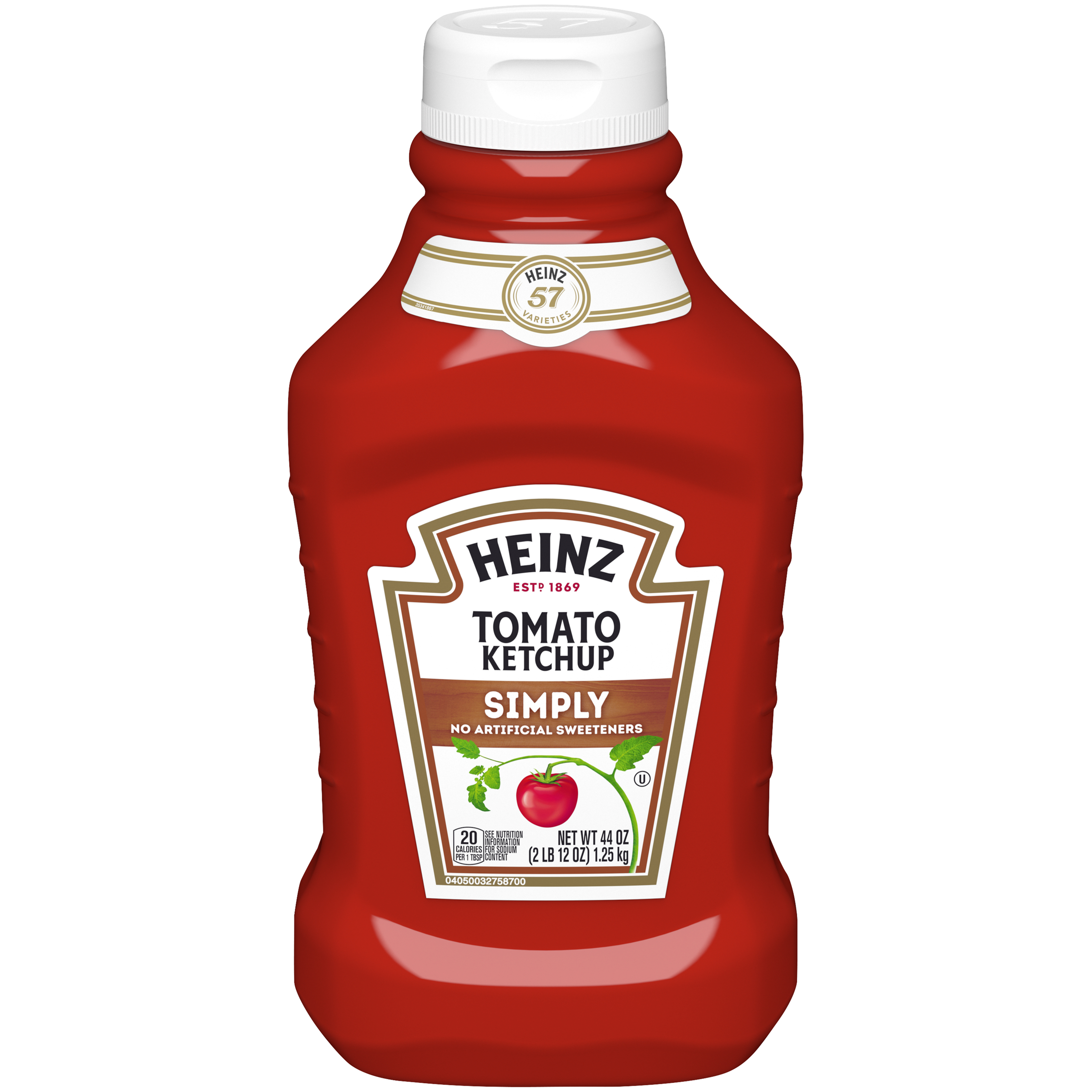 Heinz Simply Heinz Tomato Ketchup 44 oz Bottle image
