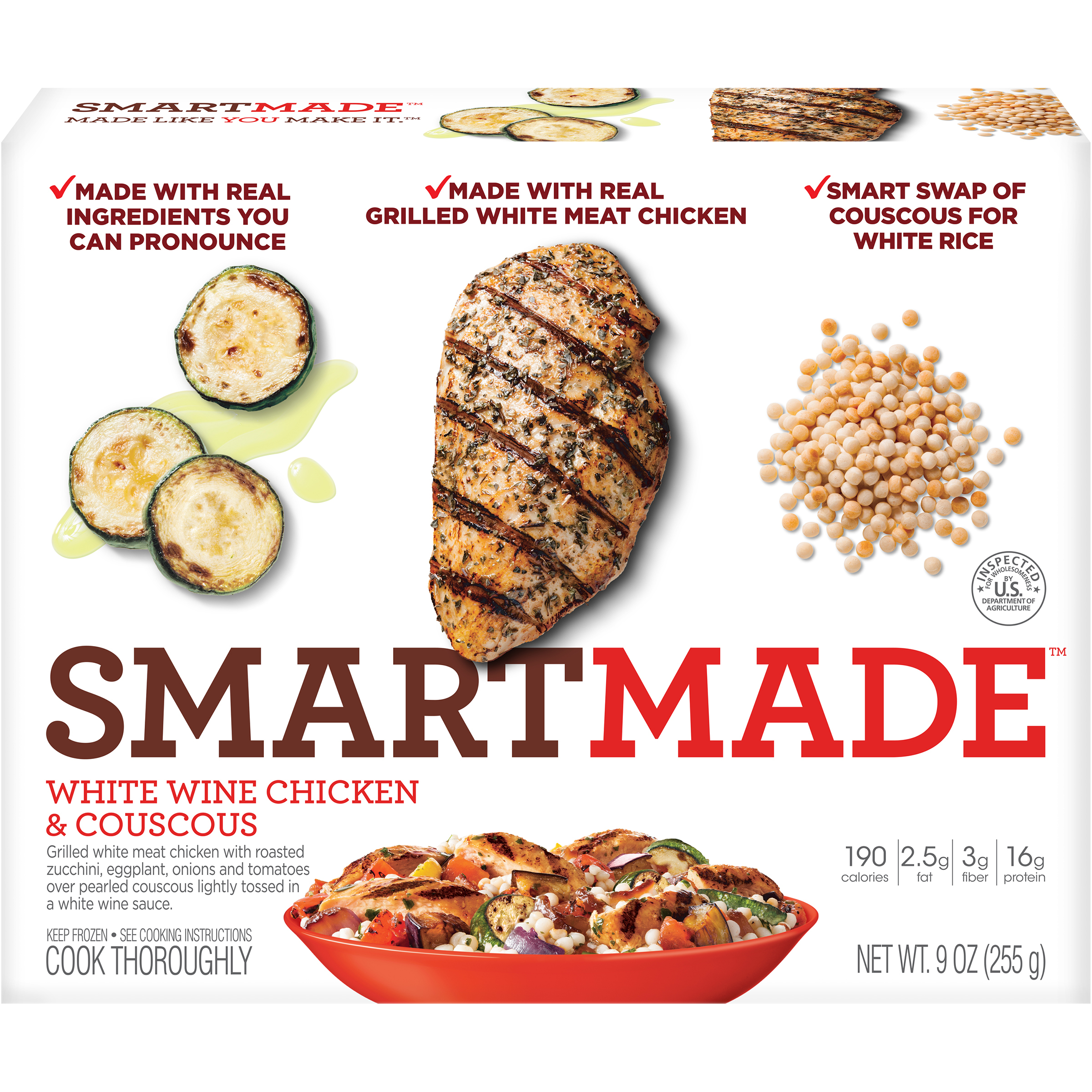 SmartMade White Wine Chicken with Cous Cous, 9 oz. image