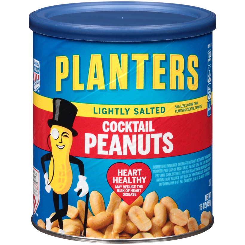 PLANTERS Lightly Salted Cocktail Peanuts 16 oz Can