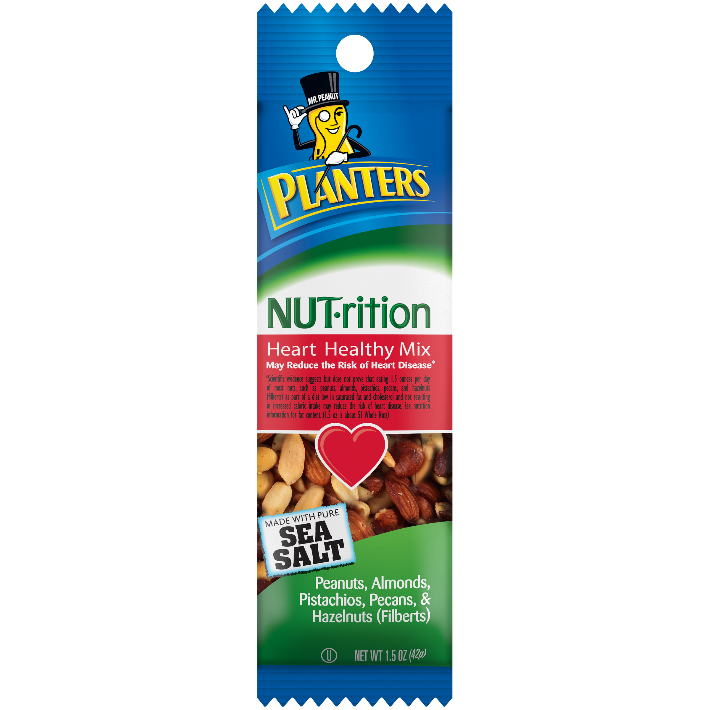 PLANTERS NUT-rition Heart Healthy Mix, 1.5 oz. Bag (3/18 Packs) image