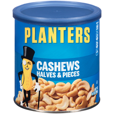 PLANTERS Halves & Pieces Cashews 14 oz Can