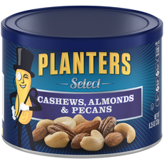 PLANTERS Select. Cashews, Almonds & Pecans 8.25 oz Can
