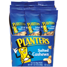 Planters Salted Cashews 15-2 oz. Bags image