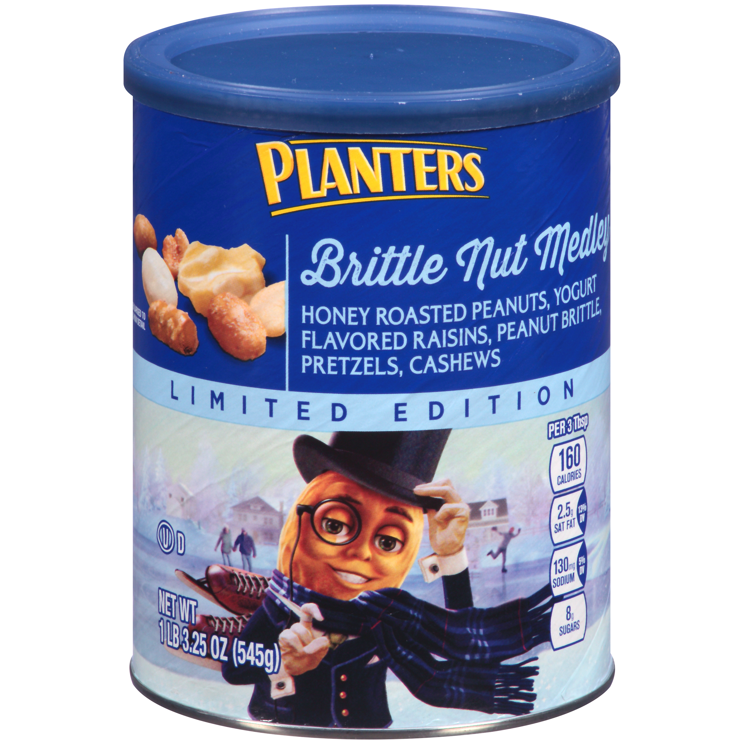 PLANTERS Brittle Nut Medley 19.25 oz Can | Planters on planters munch bar, planters holiday 3-pack, planters almond chocolate crunch, planters tailgate mix, planters pumpkin spice almonds, planters holiday mix, planters almonds seasonal winter, planters nuts gift pack, planters winter spiced nuts, planters pumpkin spiced almonds 22 5-ounce, planters spiced mix, planters nuts creme,