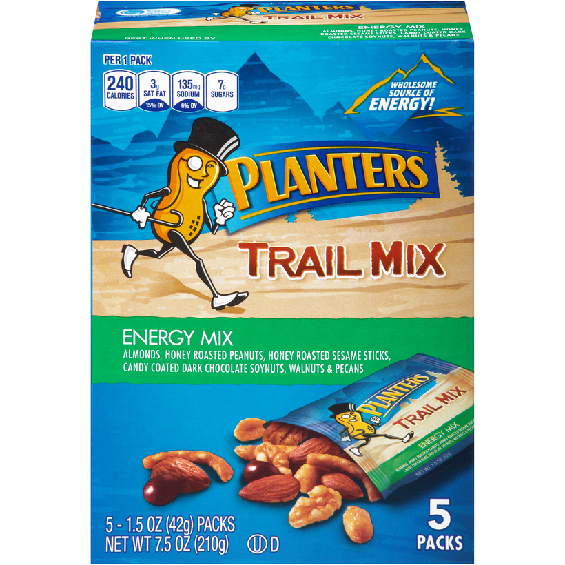 PLANTERS Trail Mix Energy Mix 7.5 oz Carton (5 Pack)