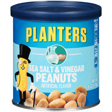 PLANTERS Sea Salt and Vinegar Peanuts 6 oz Can