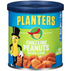 PLANTERS Chili Lime Peanuts 6 oz Can image
