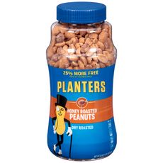 PLANTERS Honey Roasted Dry Roasted Peanuts 20 oz Jar image