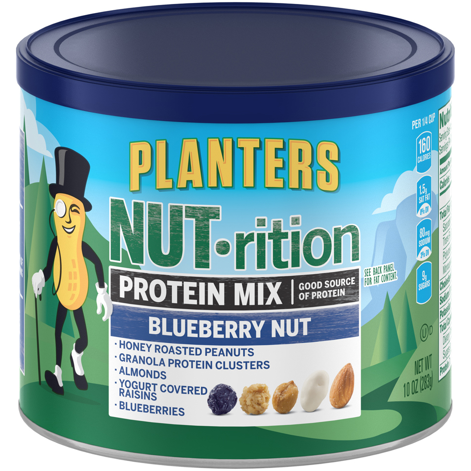 PLANTERS NUT-rition Protein Mix Blueberry Nut 10 oz Can | Planters on