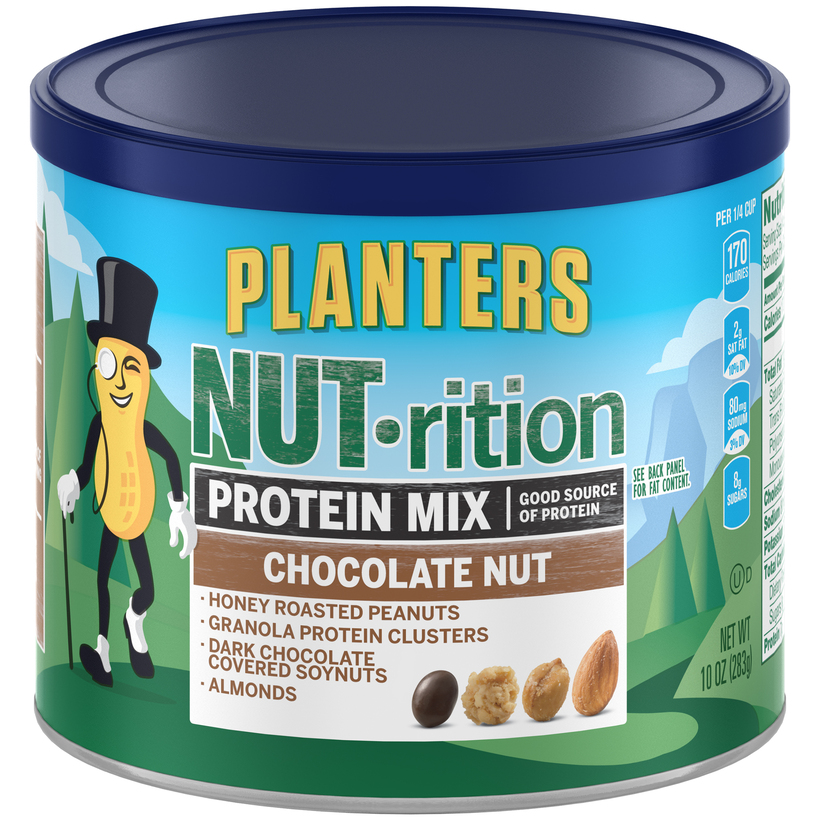 PLANTERS NUT-rition Protein Mix Chocolate Nut  10 oz Can