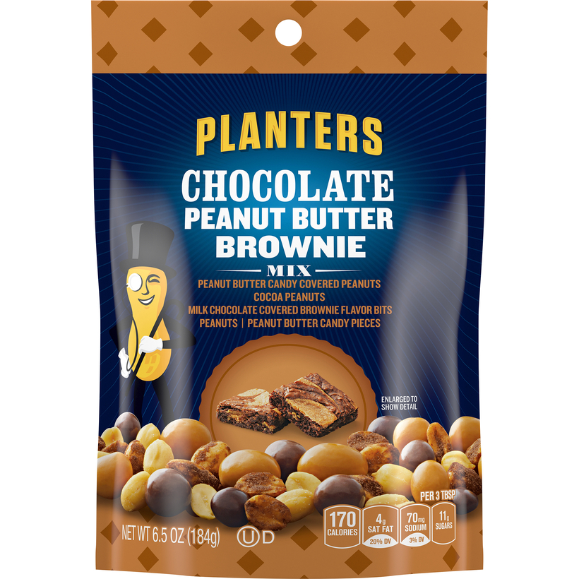 PLANTERS Chocolate Peanut Butter Brownie Mix 6.5 oz Pouch