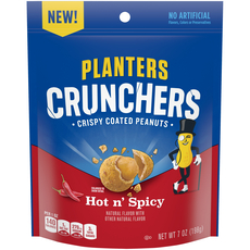 Planters Crunchers Snack Nuts Hot N' Spicy 7 oz Bag
