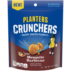 Planters Crunchers Snack Nuts Mesquite Barbecue 7 oz Bag