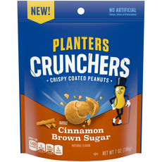 Planters Crunchers Snack Nuts Cinnamon Brown Sugar 7 oz Bag
