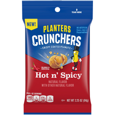 Planters Crunchers Snack Nuts Hot N' Spicy 2.25 oz Bag