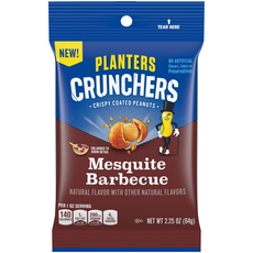 Planters Crunchers Snack Nuts Mesquite BBQ 2.25 oz Bag