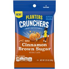 Planters Crunchers Snack Nuts Cinnamon Brown Sugar 2.25 oz Bag image