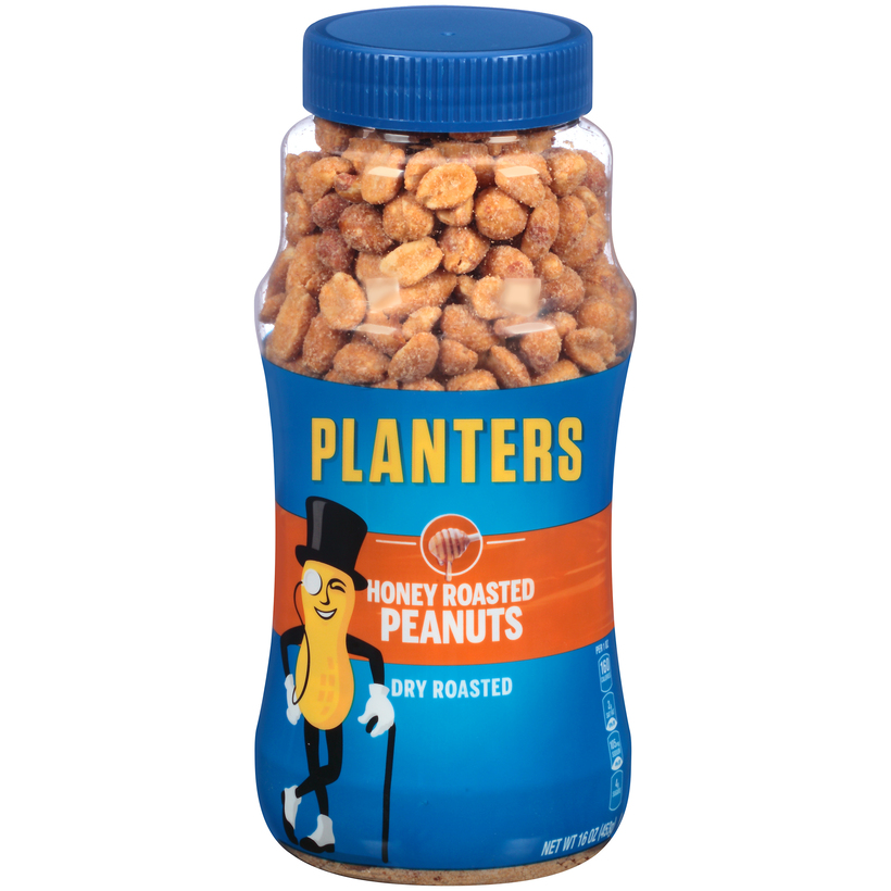 PLANTERS Honey Roasted Dry Roasted Peanuts 16 oz Jar | Planters on planters holiday collection, planters peanut brittle mix, planters coupons, planters peanut bank, planters snack mix, planters brittle nut medley sale, planters peanut products, planters cashews, planters cheese balls return, honey roasted peanuts, 1 ounce of peanuts, planters peanut car, planters mr. peanut, planters peanut bar, planters flavored nuts, planters peanut butter, planters holiday pack, planters holiday mix, planters seasonal nuts, planters almond chocolate crunch,