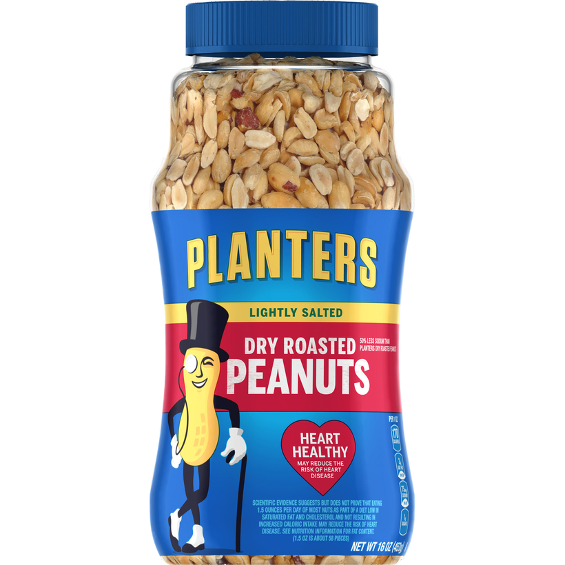 PLANTERS Lightly Salted Dry Roasted Peanuts 16 oz Jar