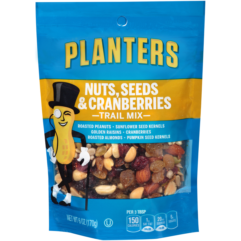 PLANTERS Trail Mix Nuts, Cranberries, and Seeds  7 oz Bag