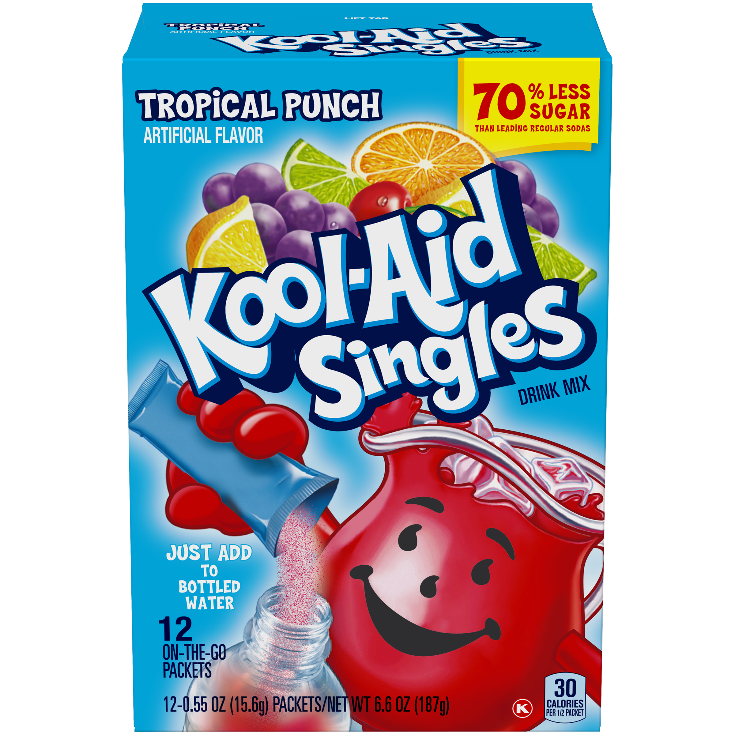 Kool-Aid Singles Tropical Punch 12 Ct Soft Drink Mix 6.6