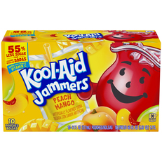 Kool-Aid Jammers Peach Mango Flavored Drink 60 fl oz Box (10-6 fl oz Pouches) image