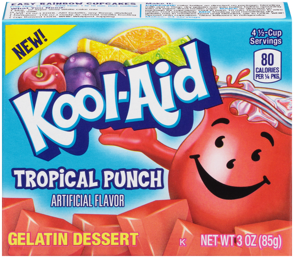 Sodastream Kool Aid Tropical Punch Syrup 500ml: Kool-Aid Jammers Tropical Punch Flavored Drink 60 Fl Oz