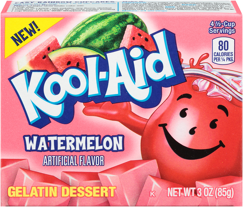 KOOL-AID GELATIN WATERMELON 3 OZ BOX