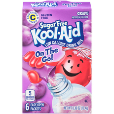 Kool-Aid On-The-Go Sugar Free Grape Drink Mix 0.36 oz Box (6 ct Packets) image