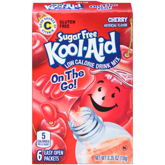 Kool-Aid On-The-Go Sugar Free Cherry Drink Mix 0.35 oz Box (6 ct Packets) image