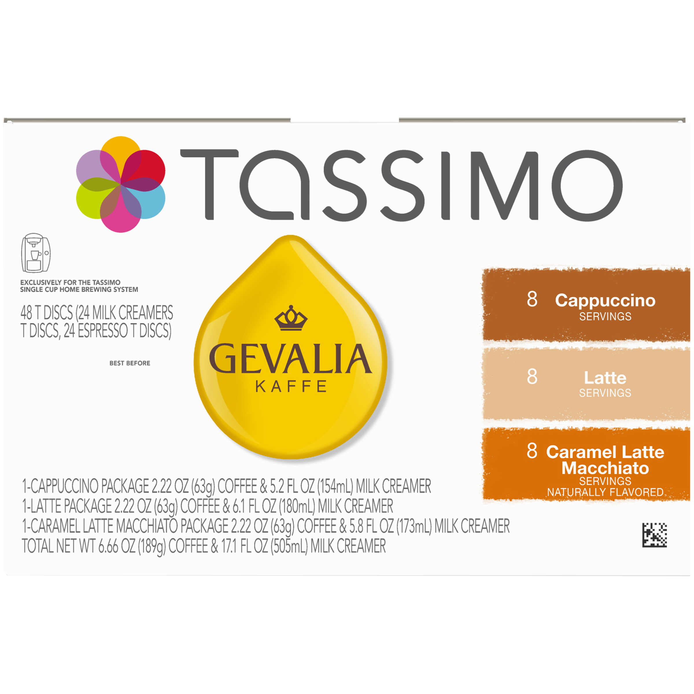 Gevalia Mixed Ground Coffee T-Disc for Tassimo Brewing