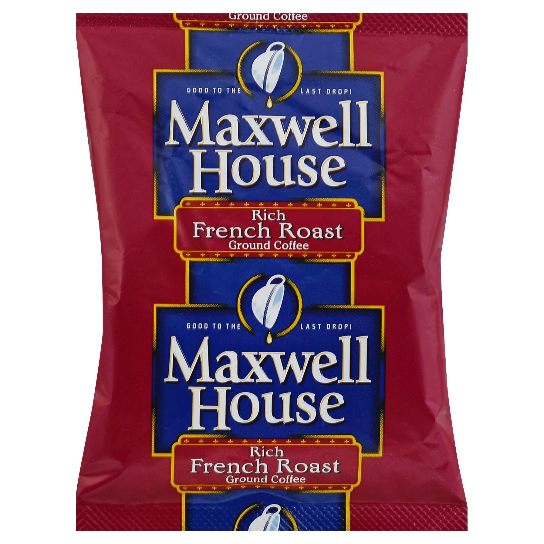 MAXWELL HOUSE French Roast & Ground Coffee, 1.2 oz. Packets (Pack of 42)
