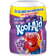 KOOL-AID Grape Drink Mix Sugar Sweetened 19 oz Canister image