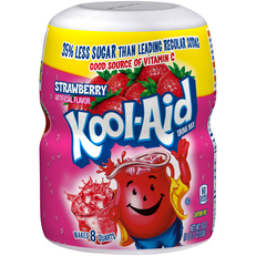 Kool-Aid Strawberry Drink Mix 19 oz. Canister image