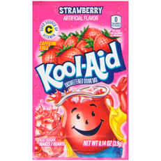 KOOL-AID Strawberry Drink Mix Unsweetened 0.14 oz Packet image