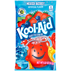 KOOL-AID Mixed Berry Drink Mix Unsweetened  0.22 oz Packet image